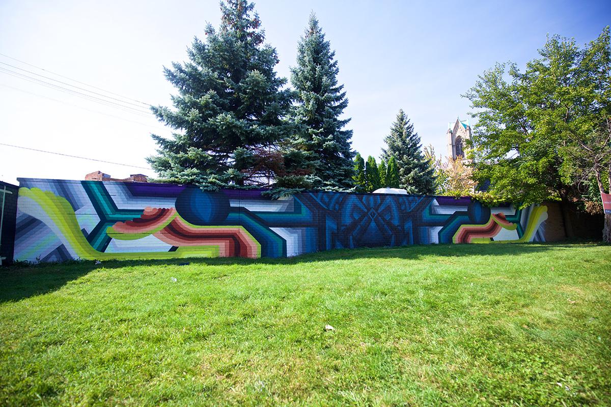 2016 Mural by Lauren Harrington in Eastern Market, Detroit