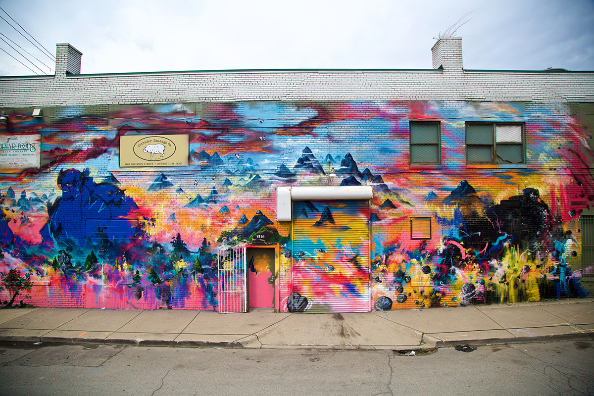 2016 Mural by Mr. Jago and Xenz in Eastern Market, Detroit