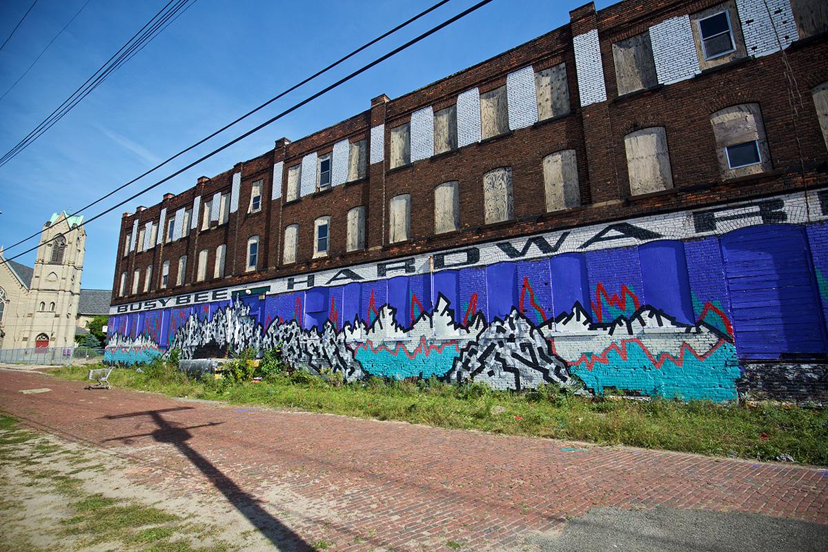 2016 Mural by NNII in Eastern Market, Detroit