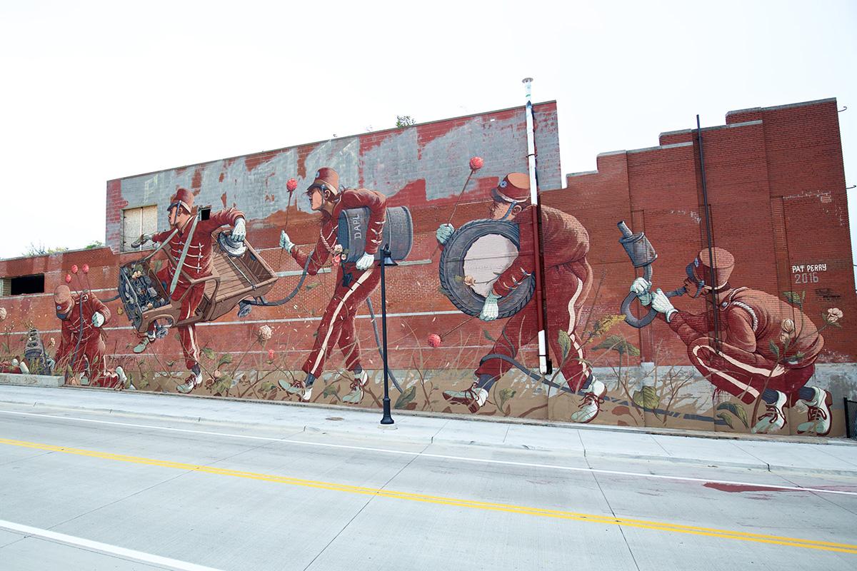 2016 Mural by Pat Perry in Eastern Market, Detroit
