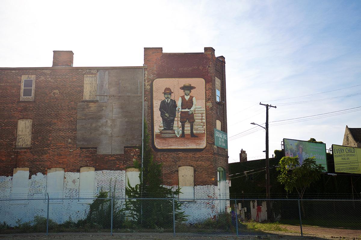 2016 Mural by Pixel Pancho in Eastern Market, Detroit