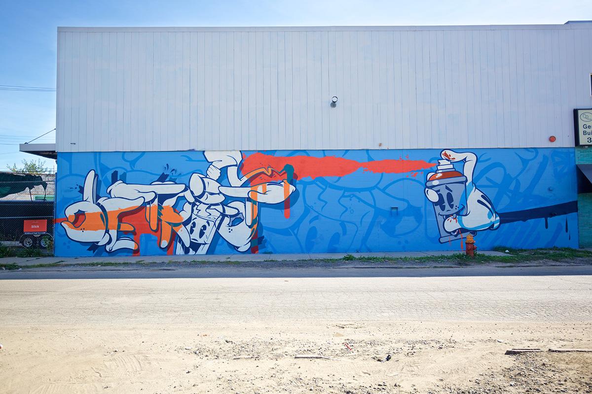 2016 Mural by Slick in Eastern Market, Detroit