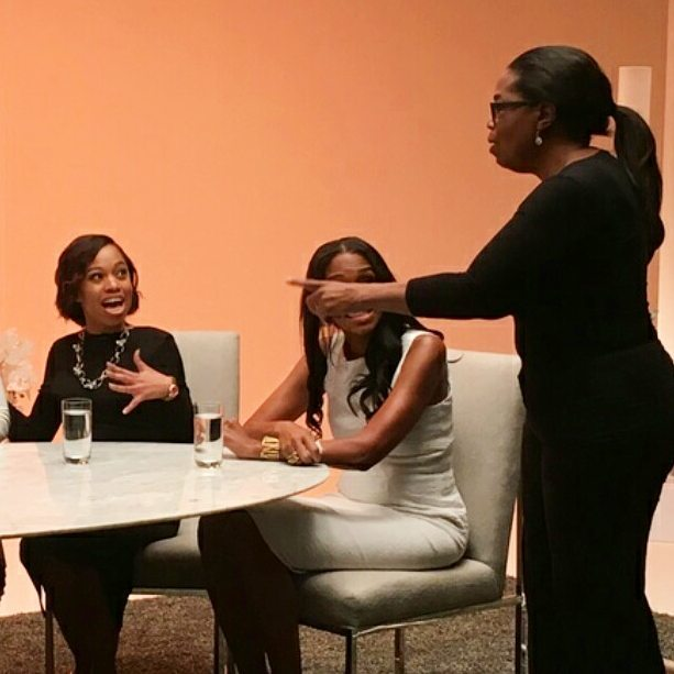Billingslea Media Owner & Operator Evelyne Billingslea meeting Oprah Winfrey December 2016