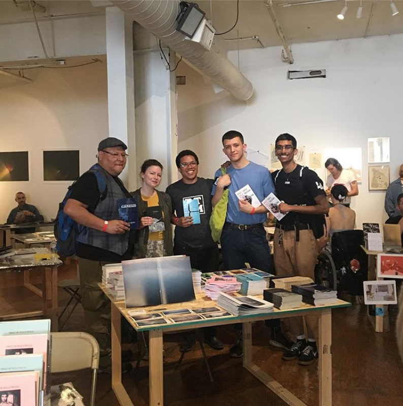 Our authors after giving a reading  at the Independent Art Book Fair in Los Angeles, United States. 2018