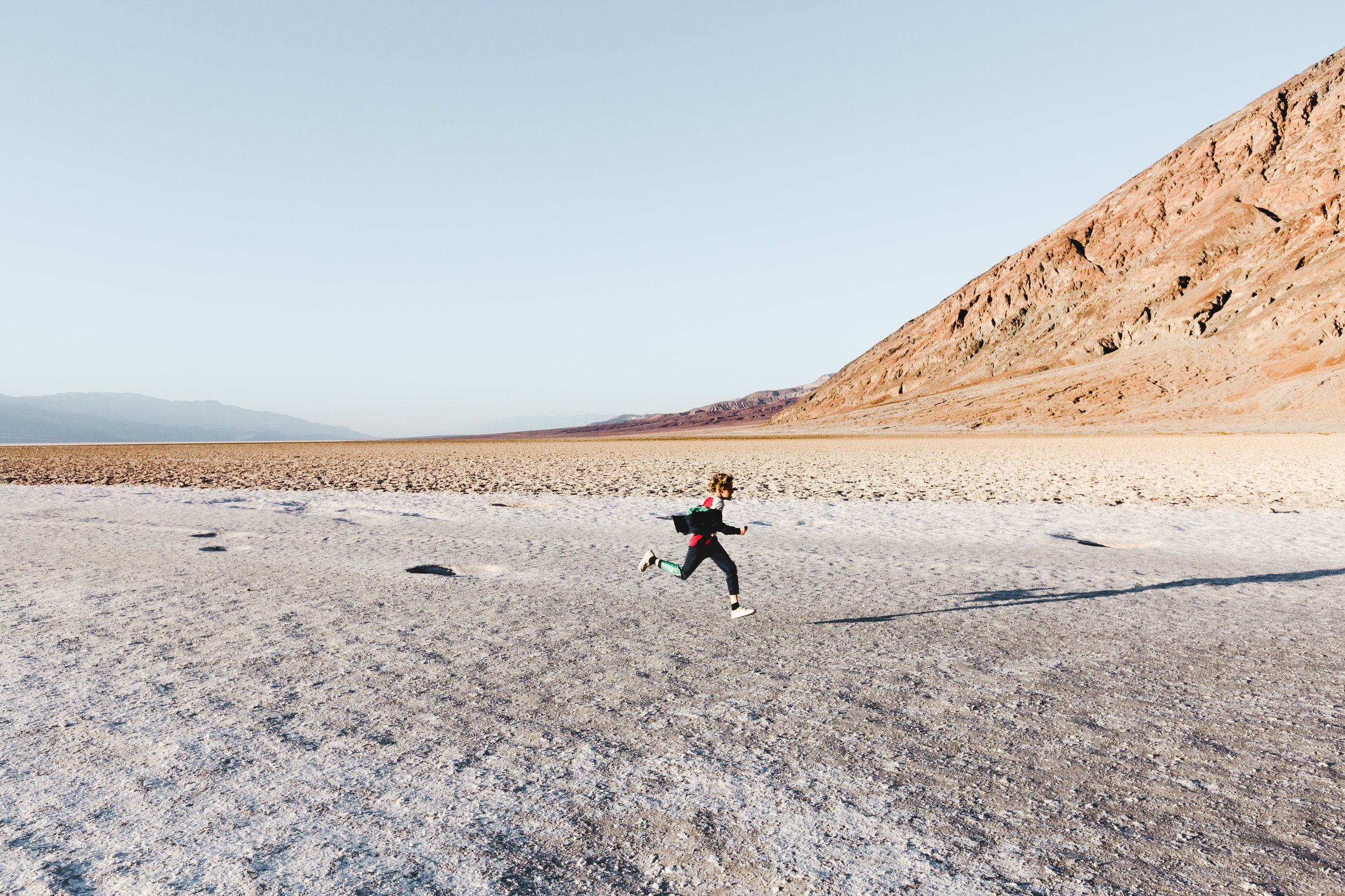 2. Death Valley Badwater Basin Boy Running California.jpg