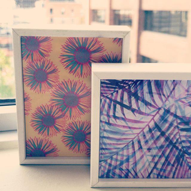 New prints from @society6 to brighten up the office 😍. #freshprints #willsmithwouldapprove  #yycentrepreneur #yycsmallbiz