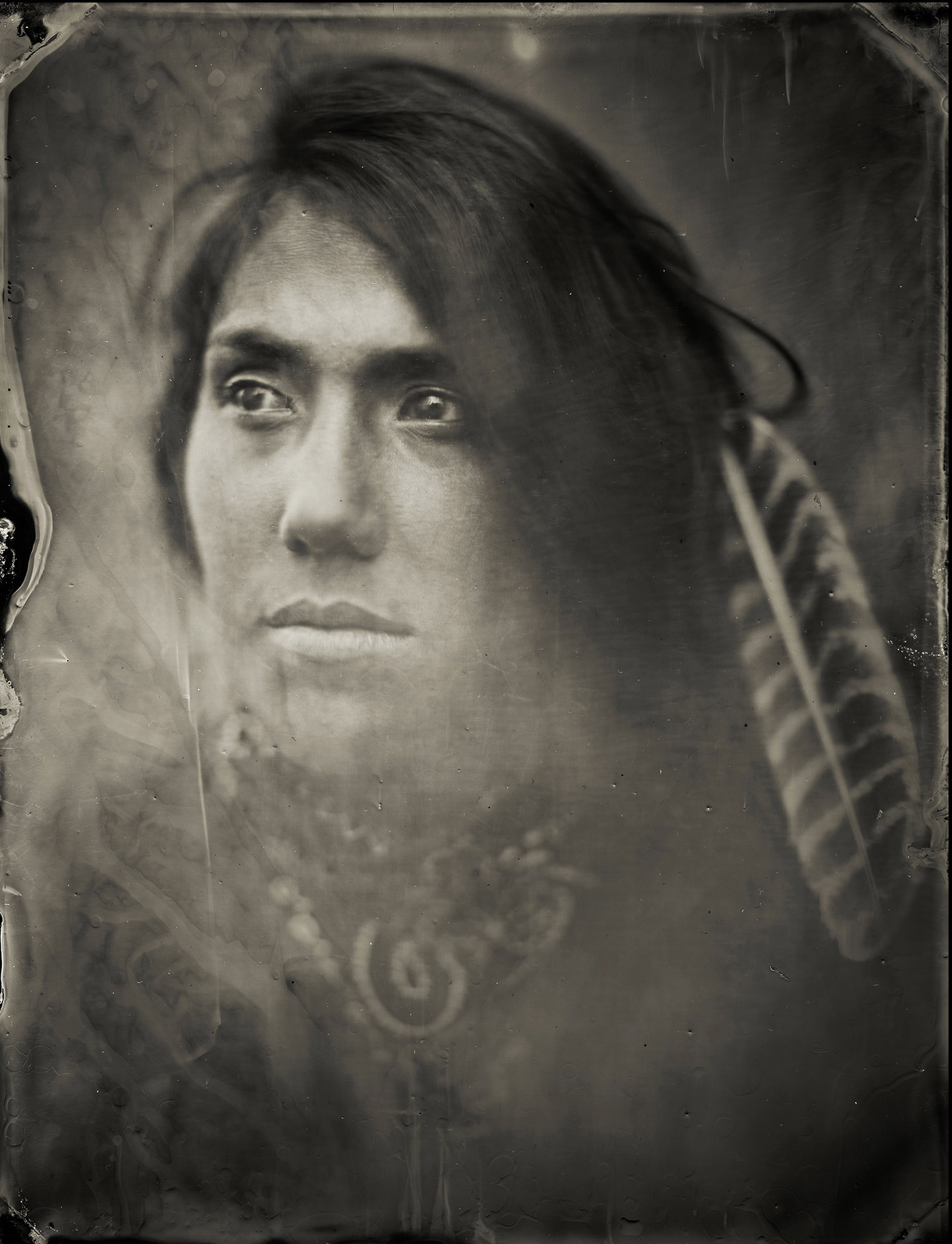 Rhea, Water Protector, Standing Rock - By:Angel Colmenares  chemicalangel.com
