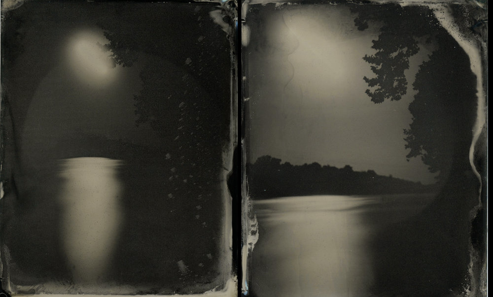 Moonrise of the James (Diptych) By: Emily White  www.emwhitephoto.com