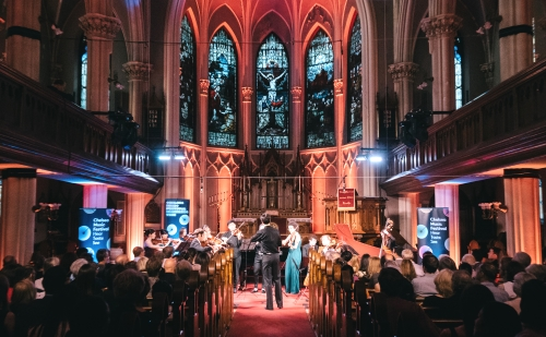Sennheiser  supported Anderson Audio's recordings at the  Chelsea Music Festival