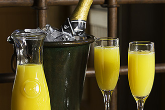 BUILD YOUR OWN MIMOSAS!    Only $10.99, Bottle of House Champagne and Carafe of O.J. SAT-SUN 9am - 2pm