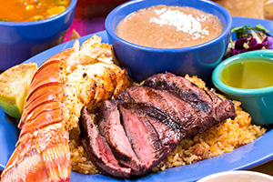 Steak & Lobster Daily Special    Just $26.95, normally a $43 value!  Includes cup of Puerto Nuevo soup