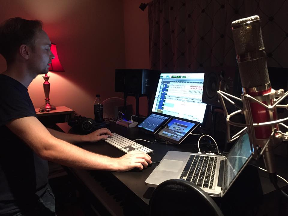 Tuesday night office hours with my producer Jonas Petersen: 8:30pm - whenever we finish this track. #musiclife #production
