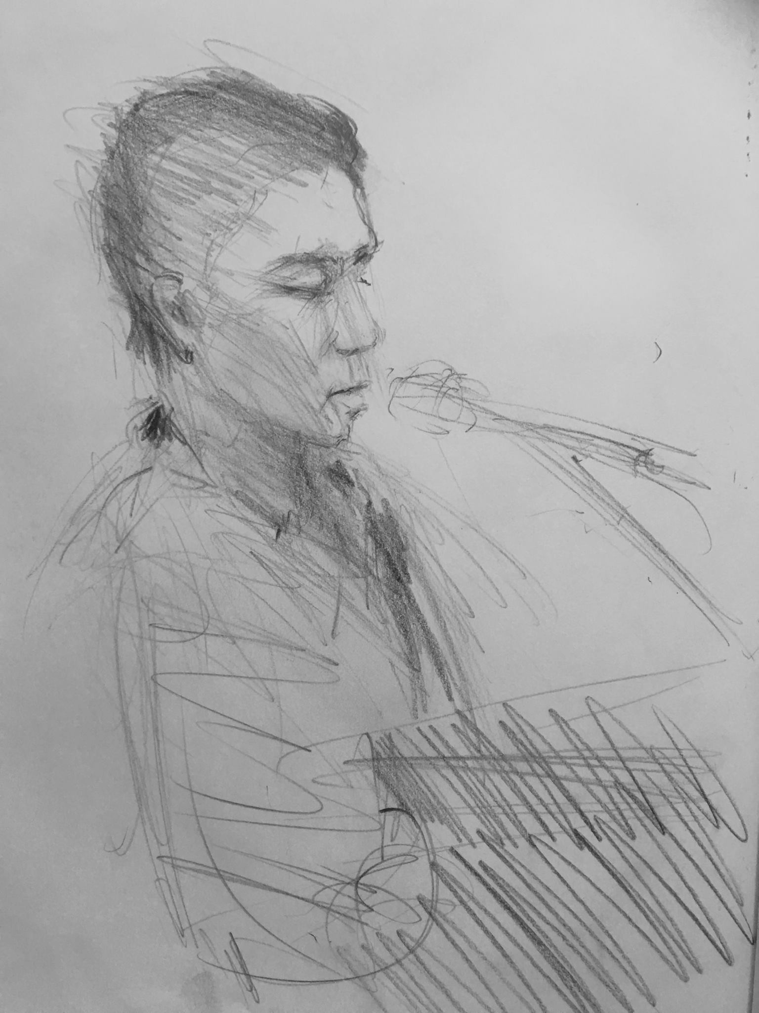 This sketch was done by the talented Peter Danko during the York, PA House Concert CD Release party....done in just 2 minutes!