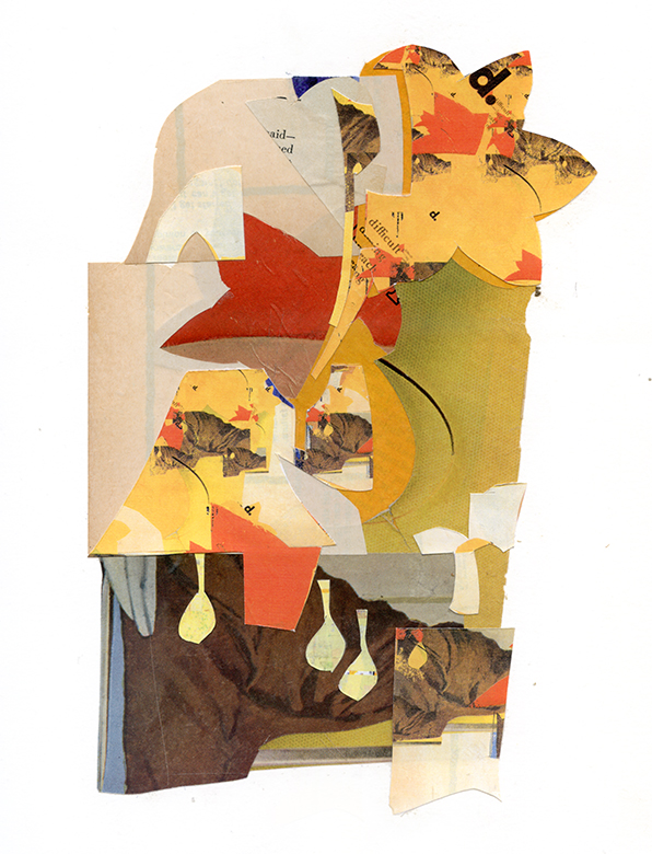 The Discerning Autumn  , collage on paper, 9x12""