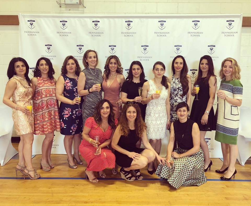 Members of Hovnanian School's Parent Teacher Organization at the Annual Mother's Day Luncheon held each Spring.