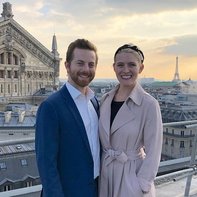 Au Revoir, Paris! What a beautiful sunset for our last night. We had a wonderful time together on Wes' first international adventure to London & Paris! #LondonParisNow @parisjetaime