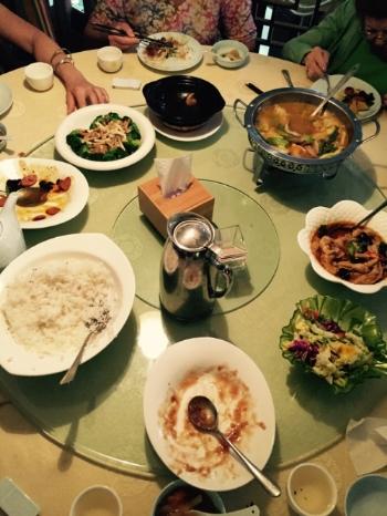 Lunch at a traditional Buddhist vegetarian restaurant in Beijing. Photo: Michelle Schurig
