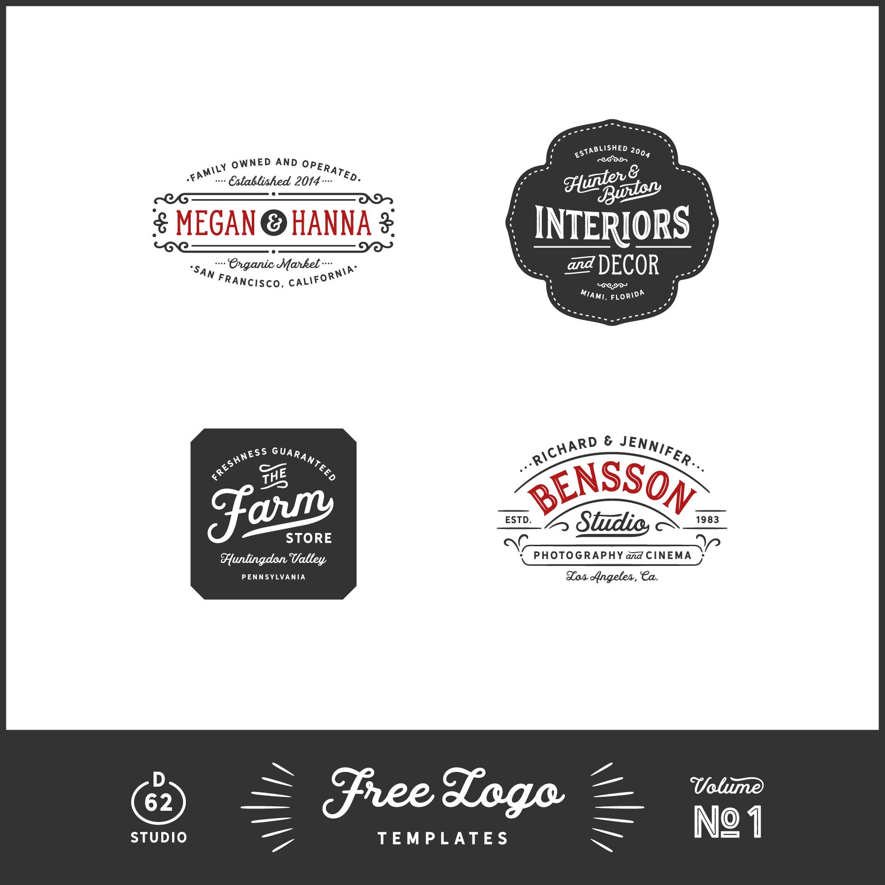 D62 Free logo templates
