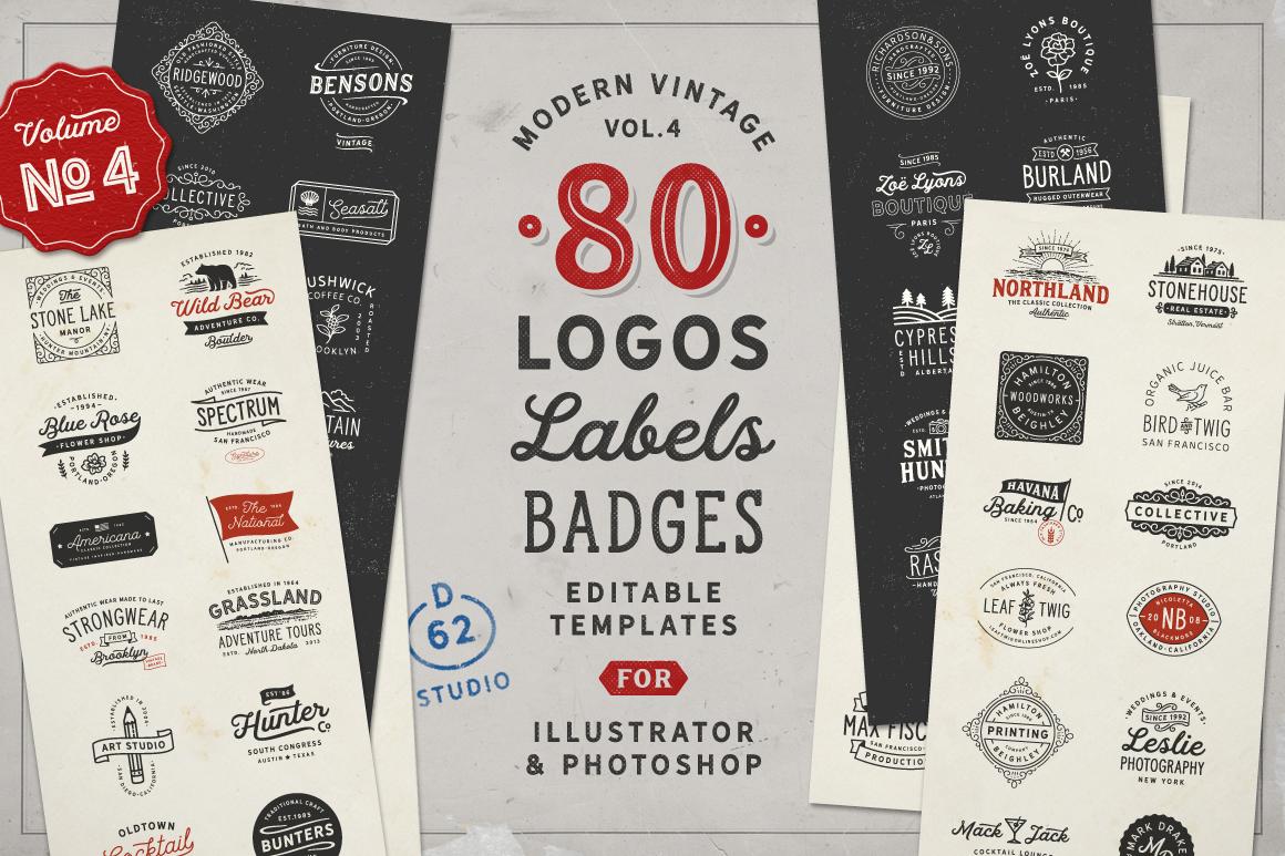 80 Modern Vintage Logos Vol 4