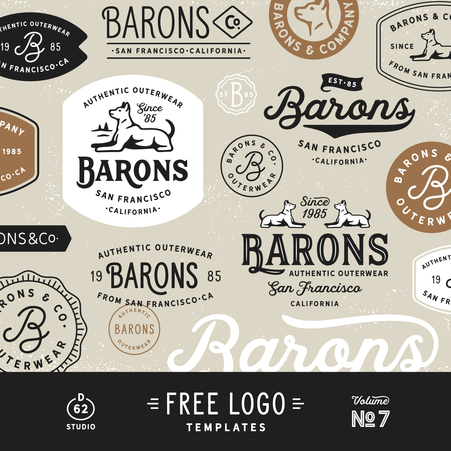 D62 Free Logo Temlates Vol 7