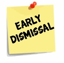 Friday 9/28 - September 28th is a half-day of school. Students are dismissed at 11:30, so if your child rides a bus home, please be aware that they will arrive home earlier than usual. If you pick up your child, please be at the school for the pickup line at 11:30.