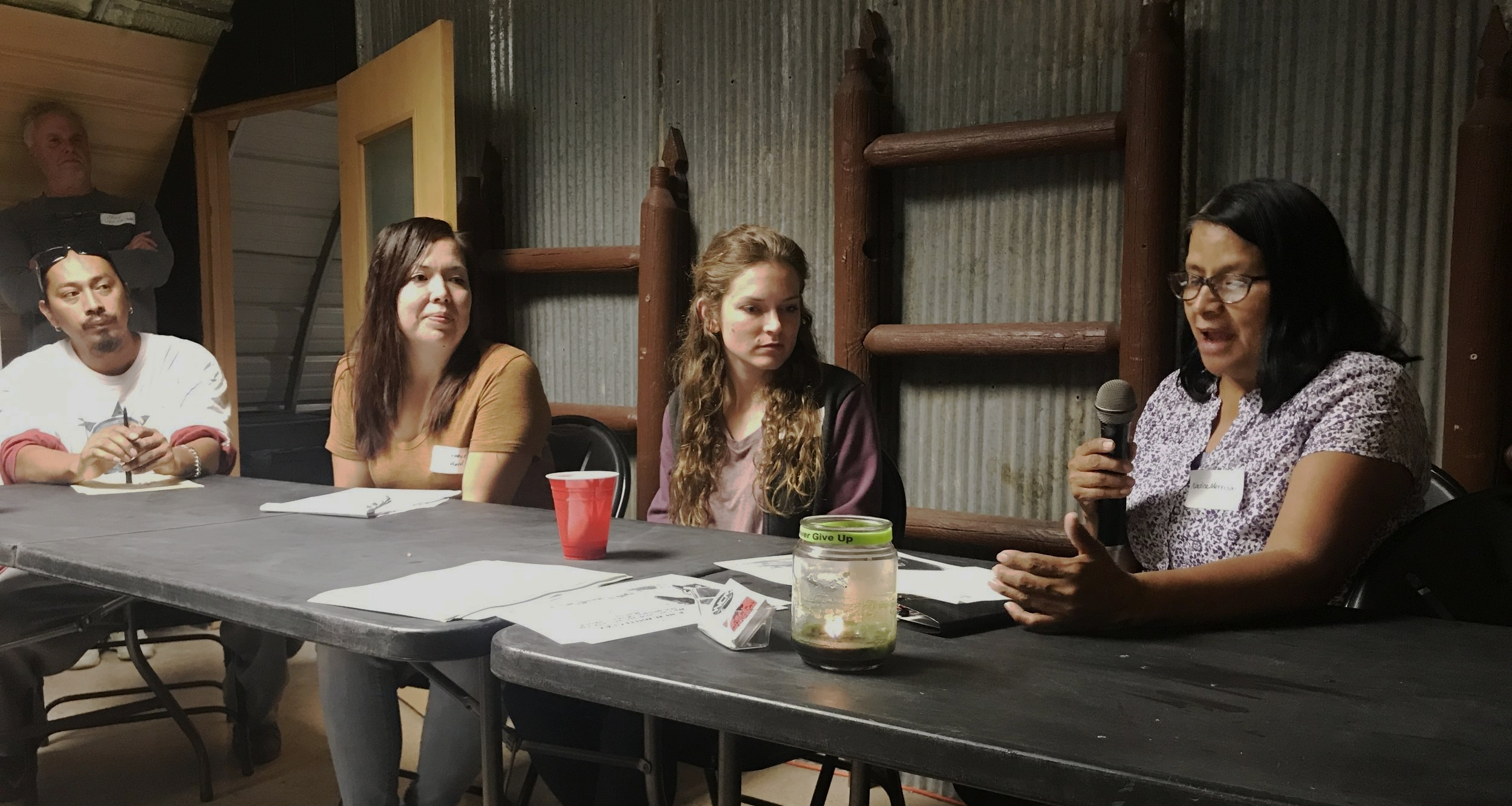 Panelists Billy Janis, Stephanie Clifford, Andrea Northup, and Nadine Morrison share their visions for Whiteclay.
