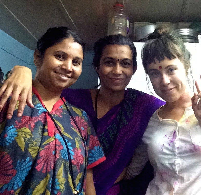 These women approached me on the beach in Mumbai because I looked so ridiculous covered in paint from the Holi celebration. They cooked me dinner and taught me how to make chapati.