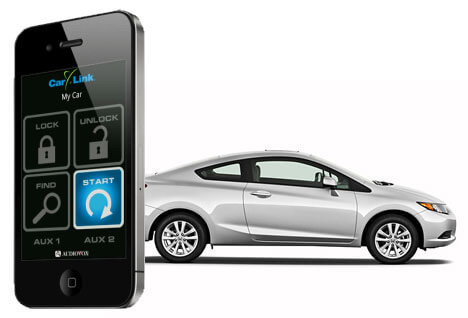 A basic security system includes a remote control or a smart phone app