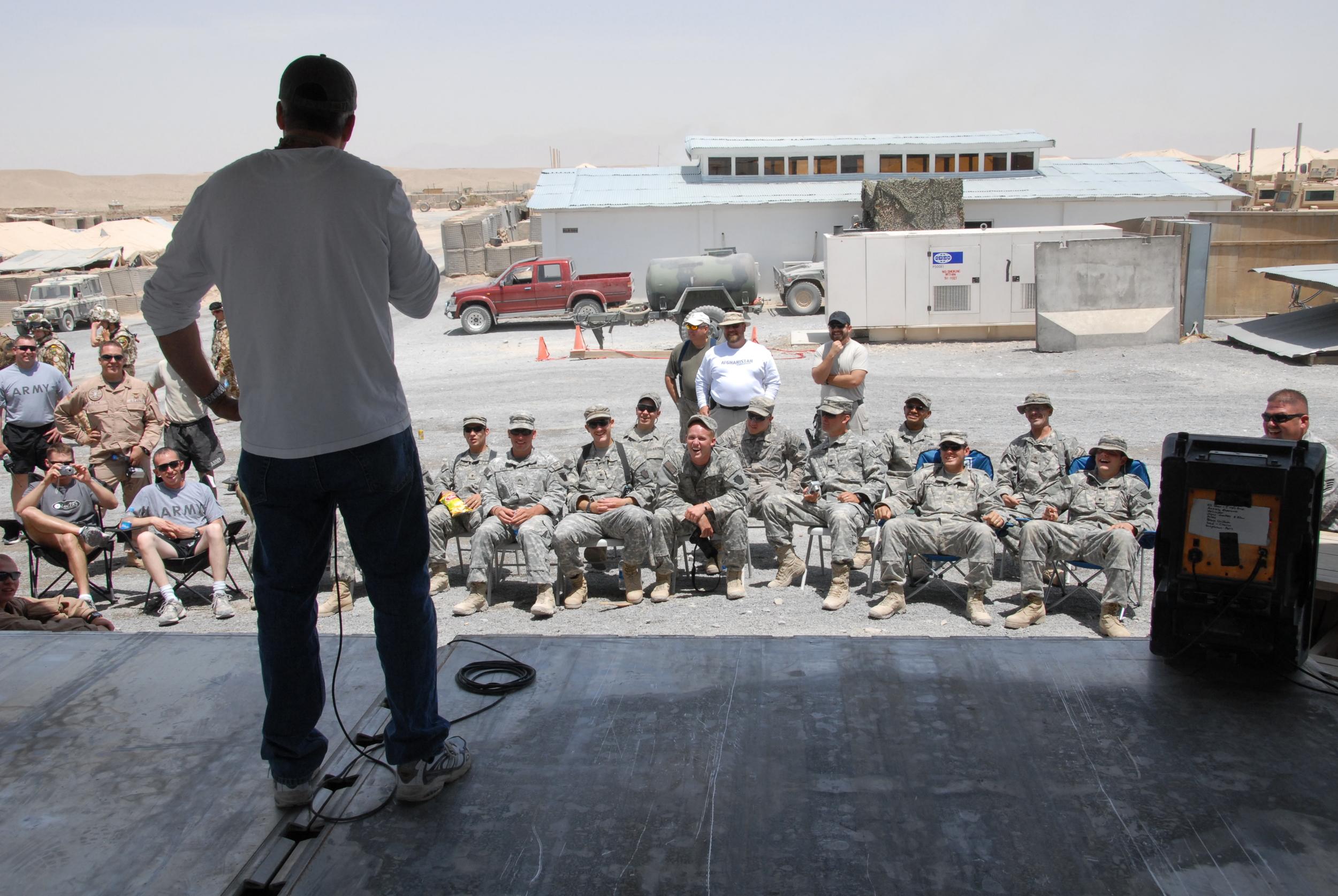 DiPaolo Afghanistan on stage.JPG