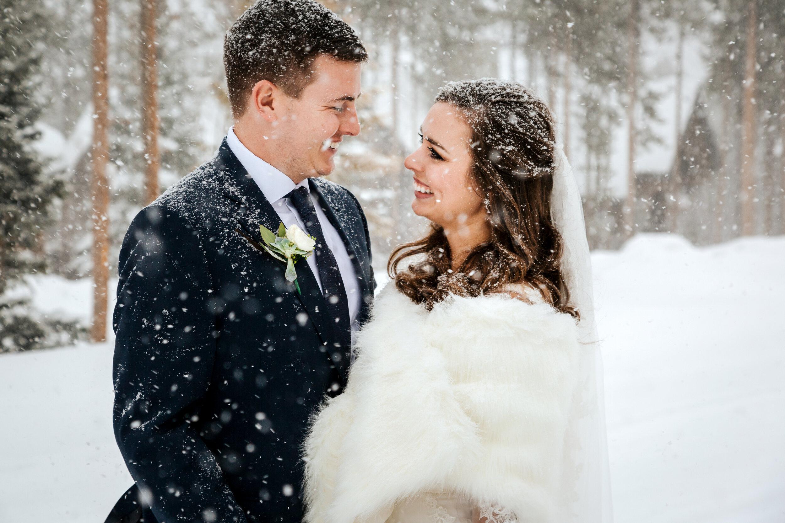 A Cozy Winter Fireside Breckenridge Colorado Elopement for Aaron and Cody