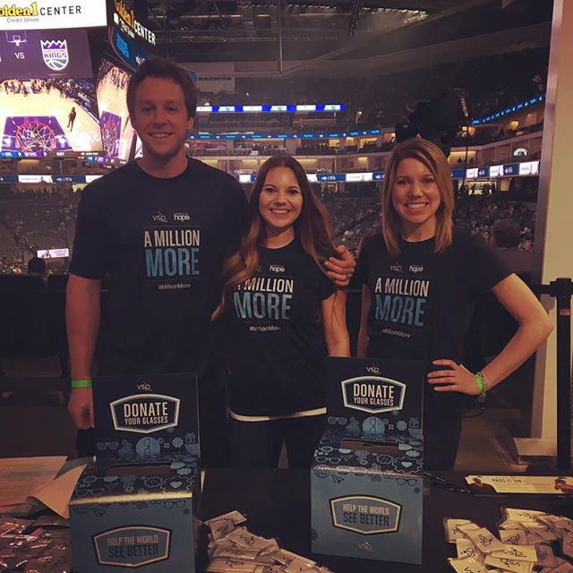 What a sighting! 👀👀 @vspvisioncare is here at the Kings game accepting donations of old eyeglasses to give back to those who can't afford their own. We're happy to support them and accept VSP patients at Bay Bridge Optometry!!! #GoKings #AndTheWarriorsToo 😉