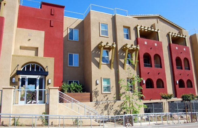 Trolley Park Terrace, Southeastern San Diego's new 52-unit LEED certified affordable housing complex, was finished 48 days ahead of schedule and $900,000 under budget.