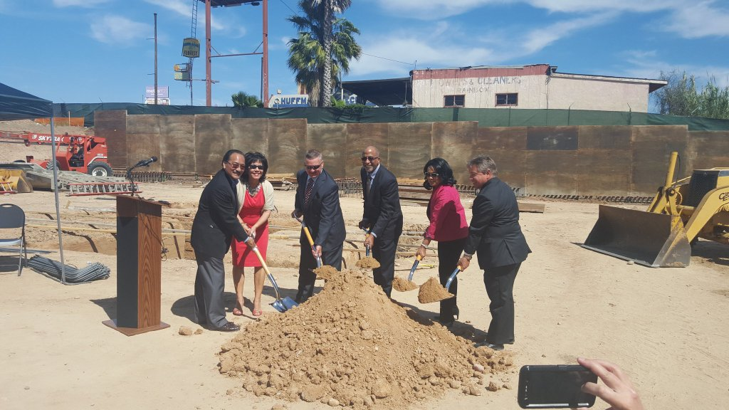 The Ouchi Courtyard groundbreaking on March 25, 2016.
