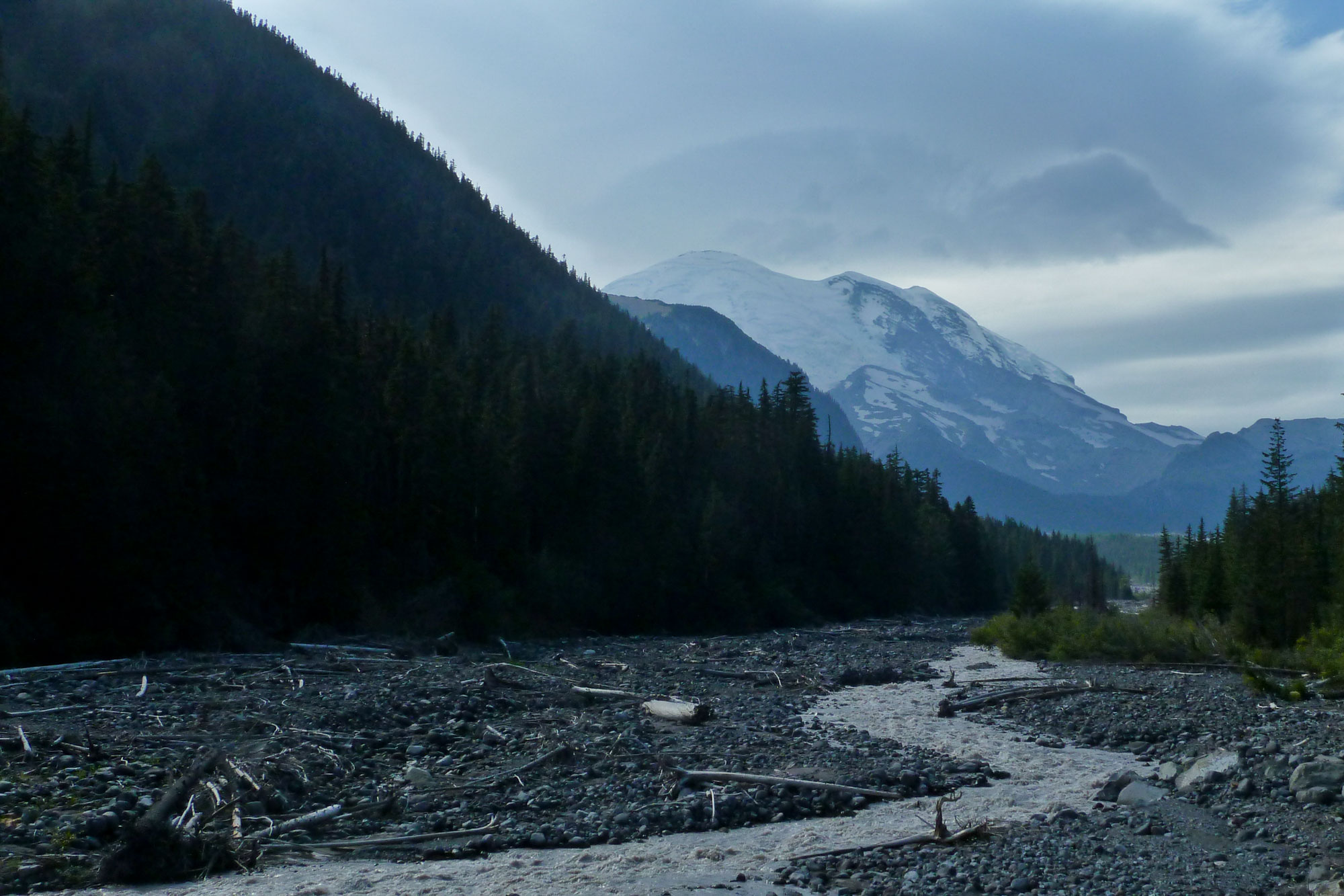 Mount Rainier from the White River. 2011