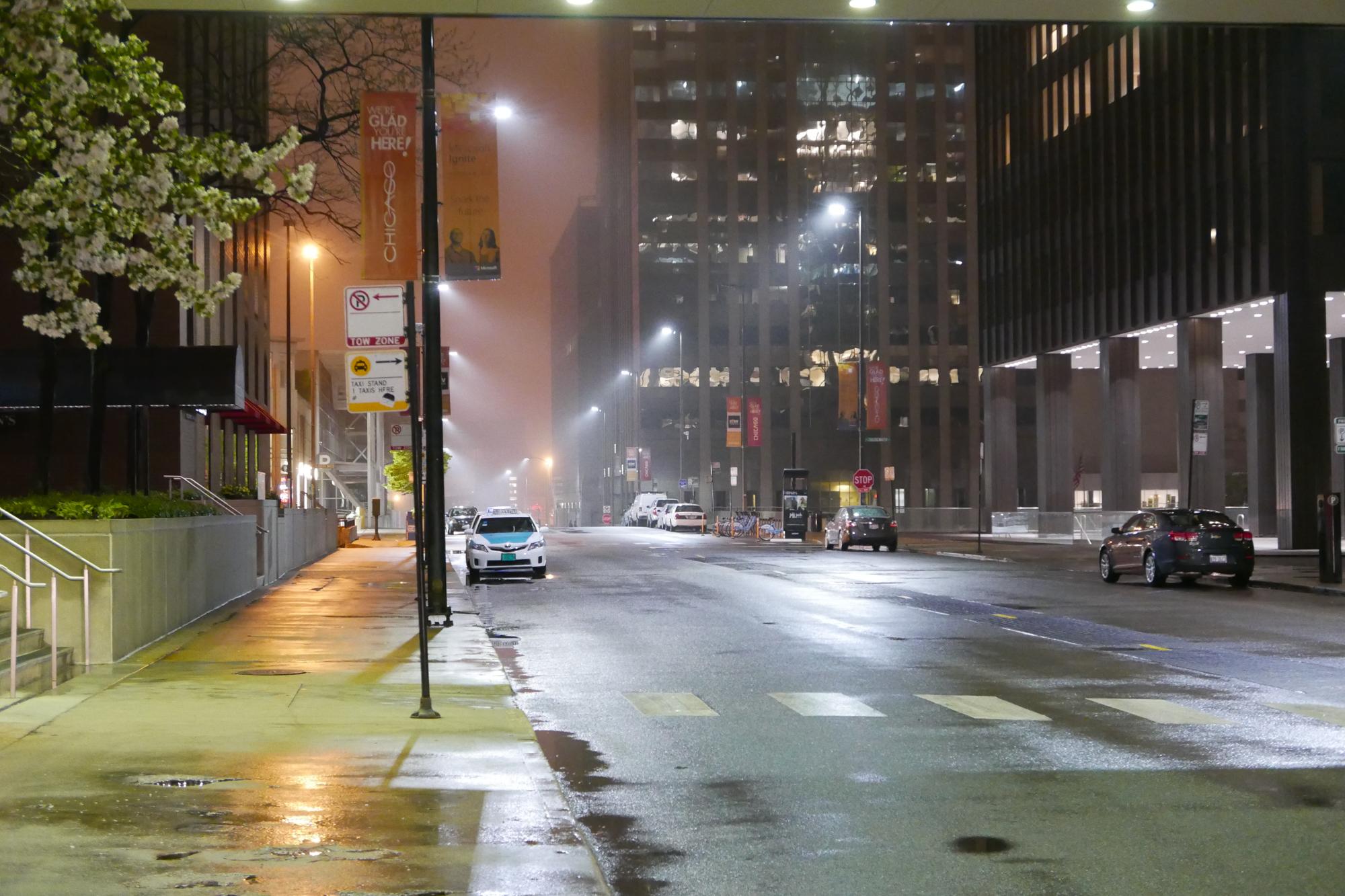 pastel night, downtown