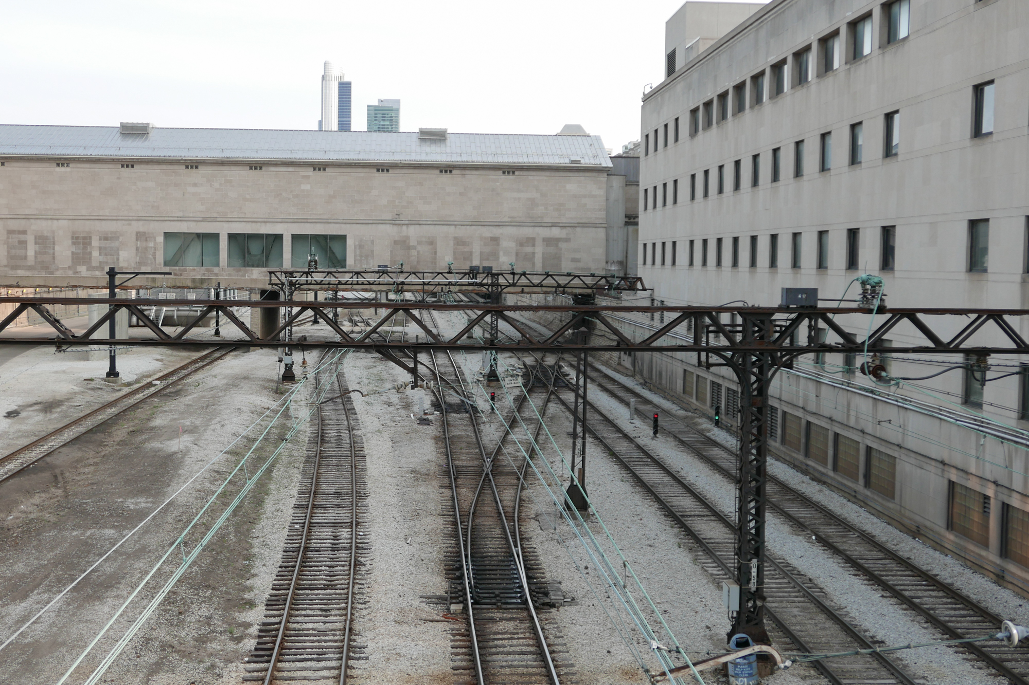 Commuter rails and buildings