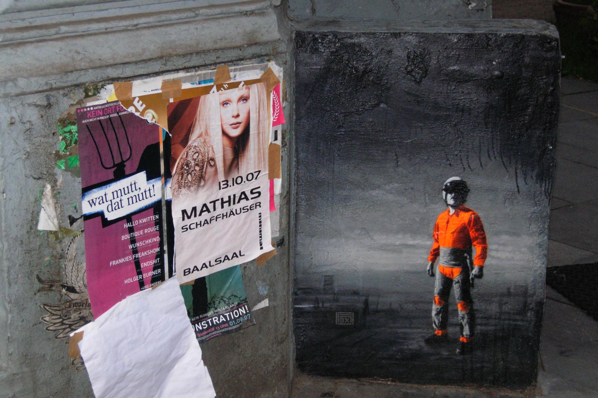 Handbills and street painting