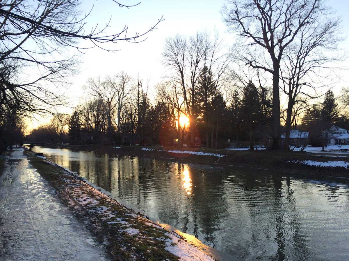 a winter sunset of note