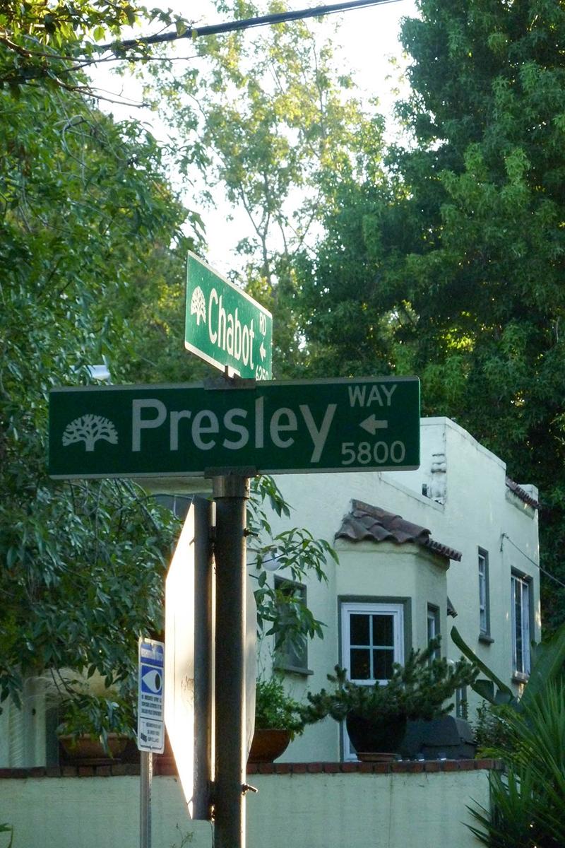 Oakland street signs