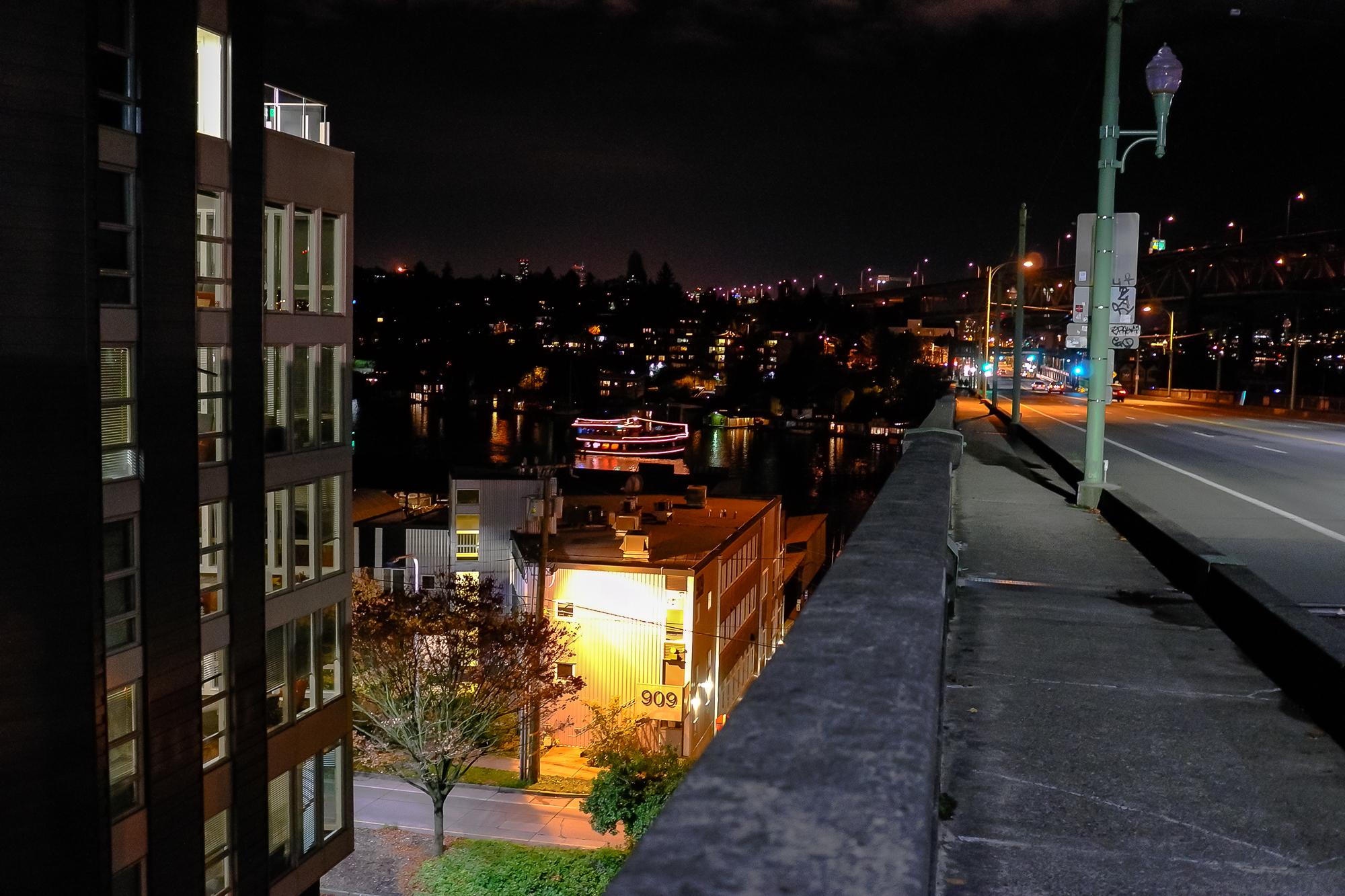 University Bridge, night