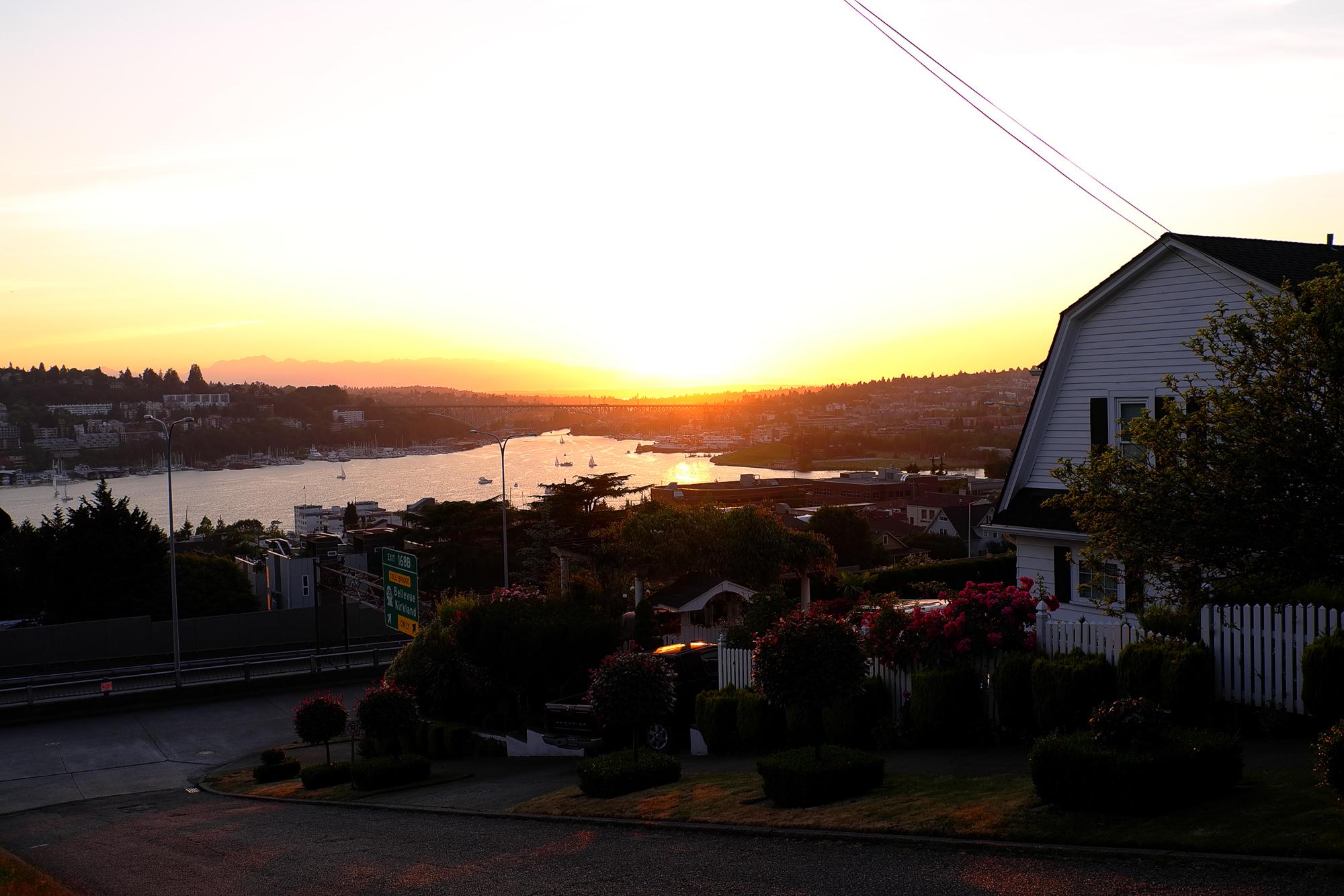 Sunset, midsummer
