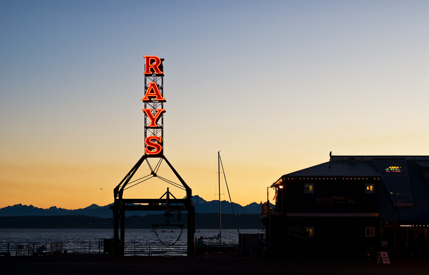 Ray's Boathouse (sign)