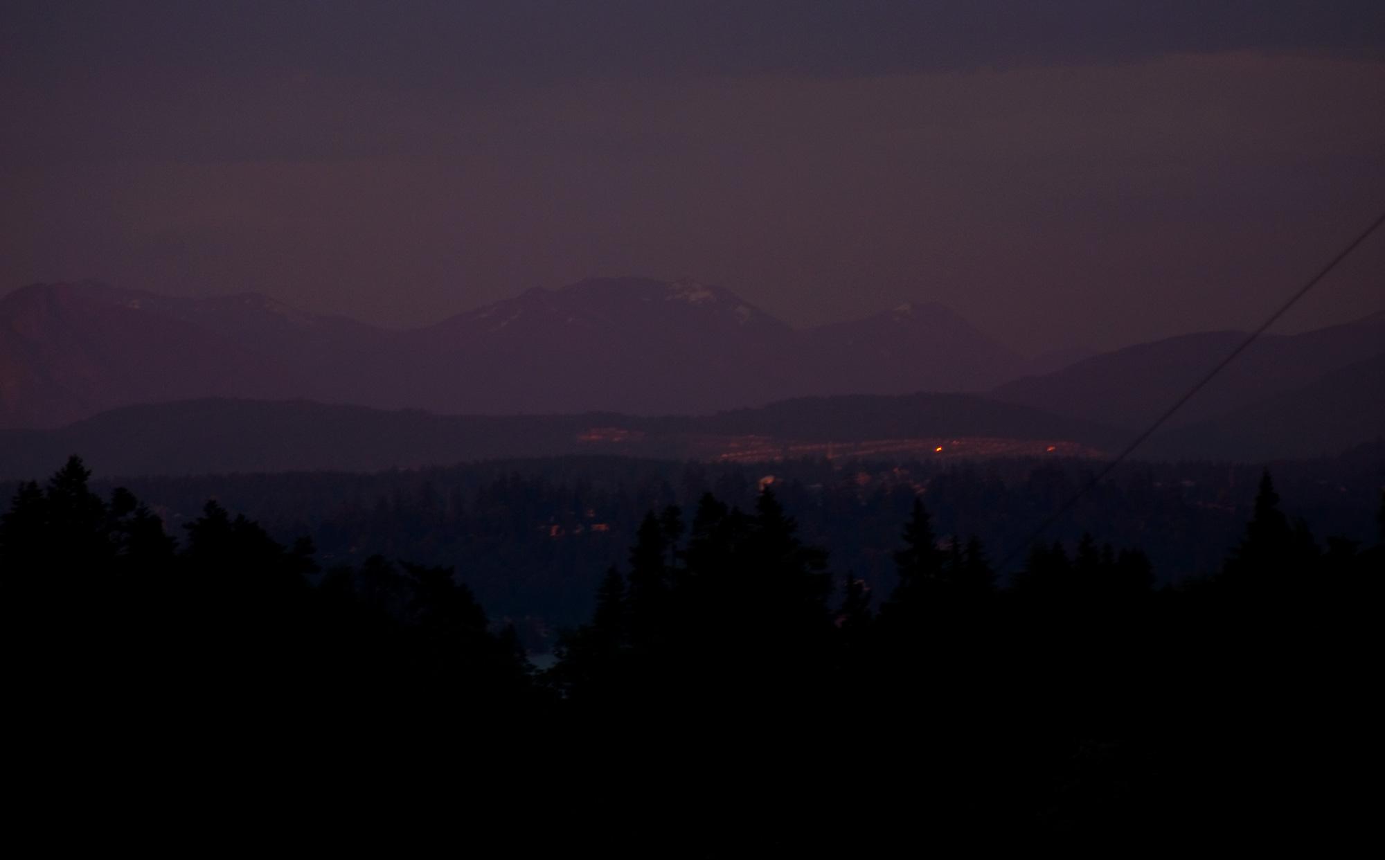 Cascade Range, dusk