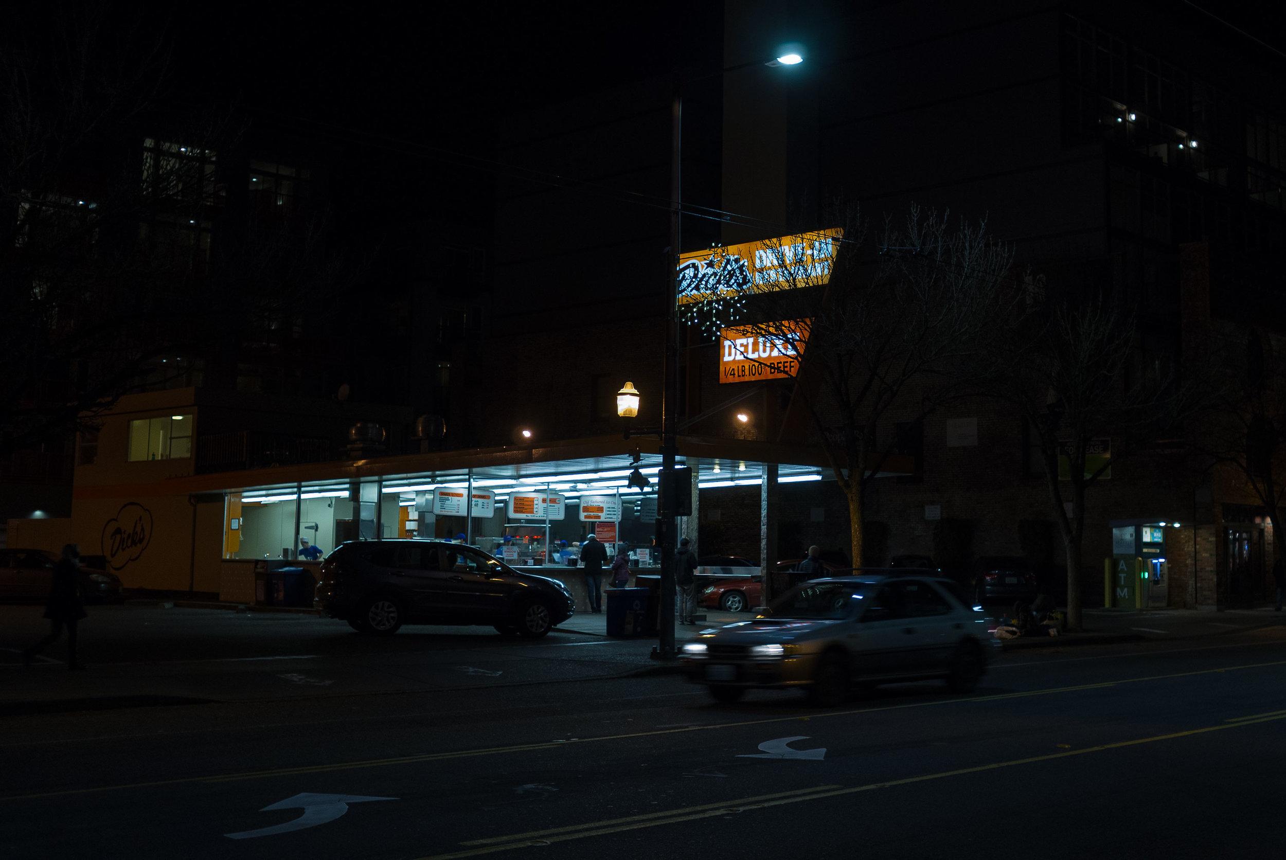 night hamburger stand