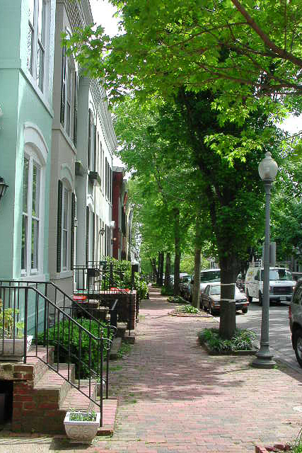 pastel rowhouses