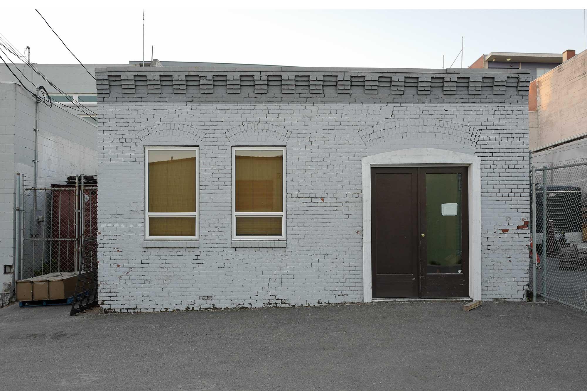 white brick office