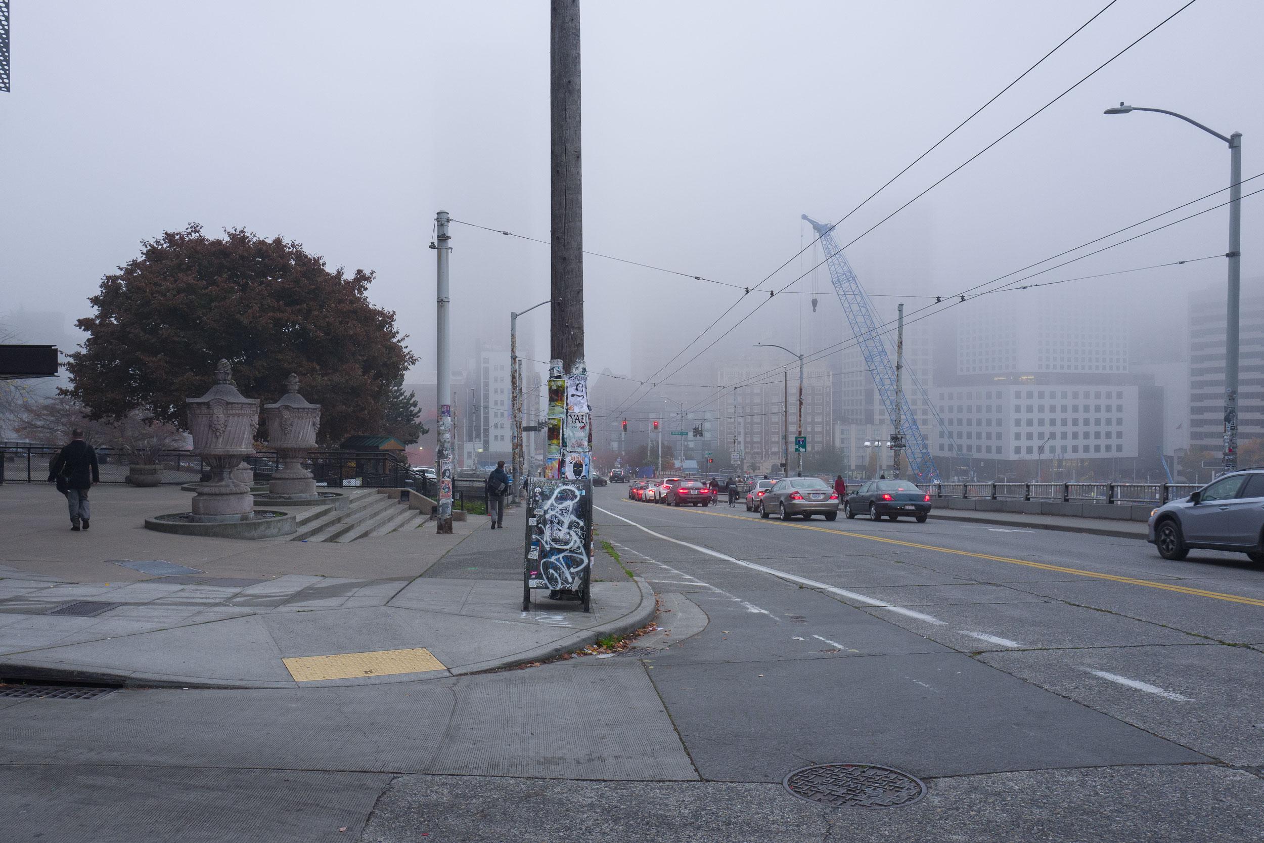 Pine Street, early morning