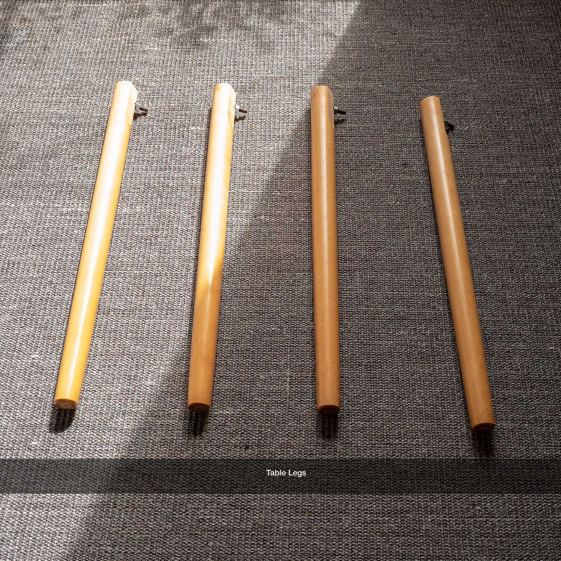 Table legs (disassembled)  (click to enlarge)