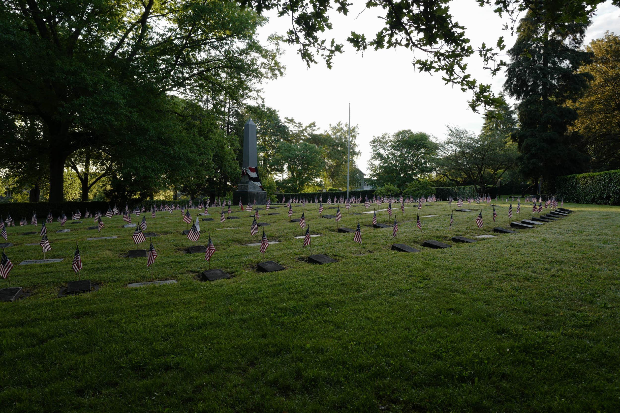veterans cemetery, dawn
