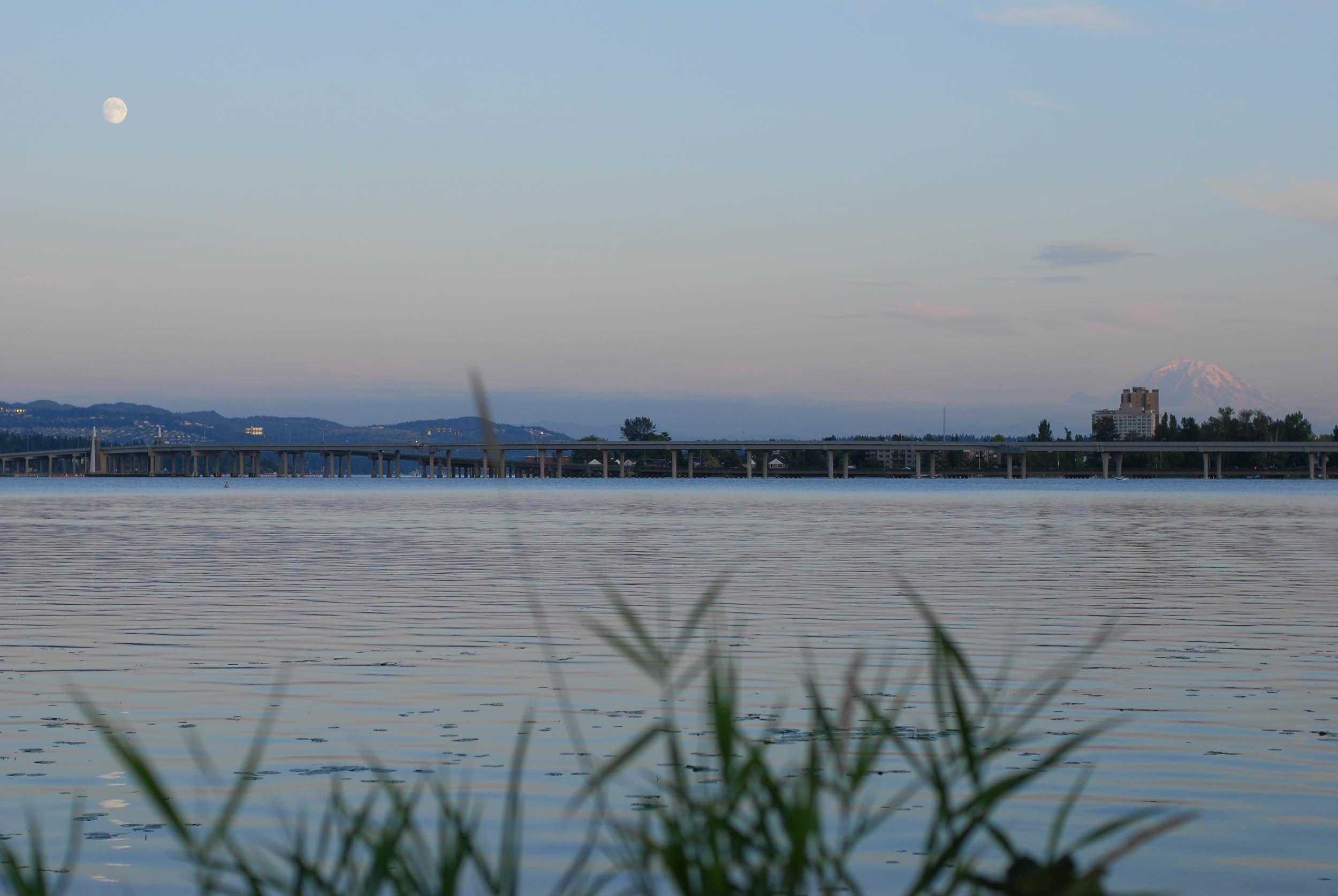 moonrise over Union Bay